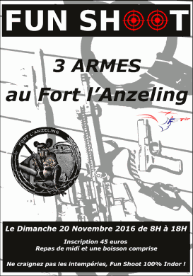 [FRA] Funshoot 3 Armes Fort l'Anzeling - 20/11/2016 - 57 201611_Fun_3Armes_Anzeling_Affiche